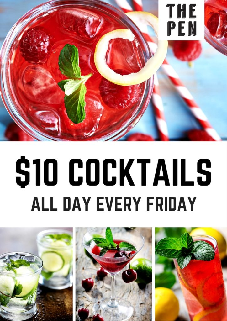 $10 Cocktails Every Friday